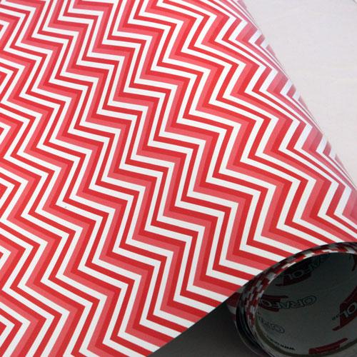 Reds and White Chevron 651 Vinyl