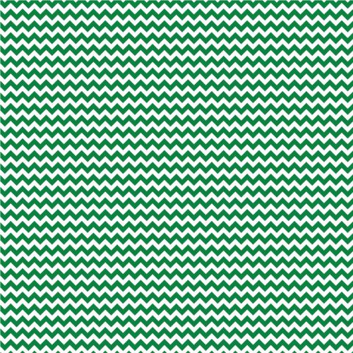 Green & White Chevron 651 Vinyl