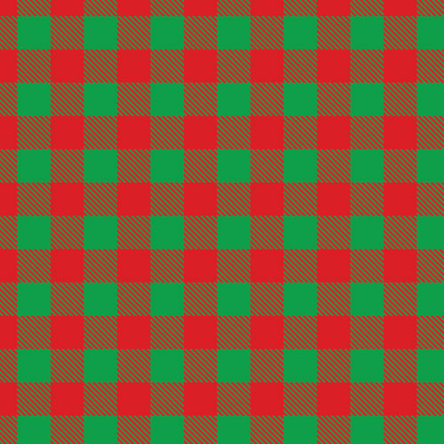 Green and Red Buffalo Plaid
