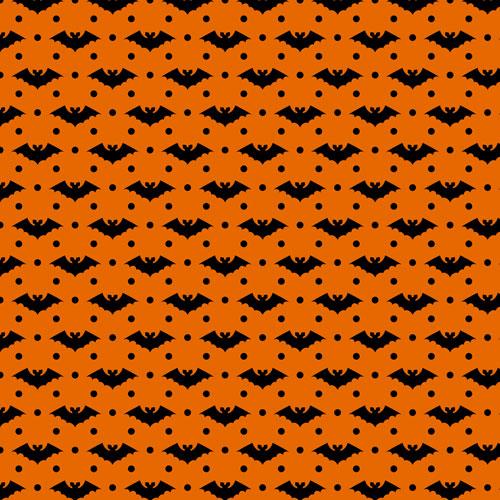 Orange and Black Bats Printed HTV