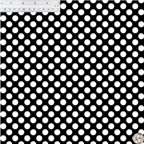Black & White Polka Dots 651 Vinyl Size