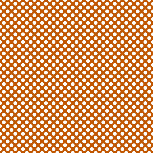 Burnt Orange and White Polka Dots