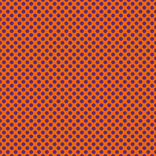Orange and Purple Polka Dots Printed HTV