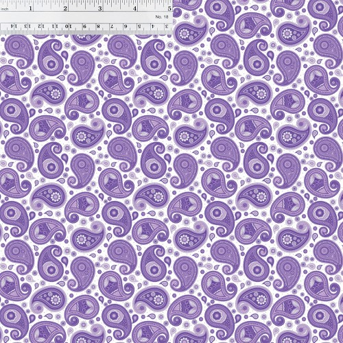 Purple Paisley Printed HTV with Ruler for Size Reference