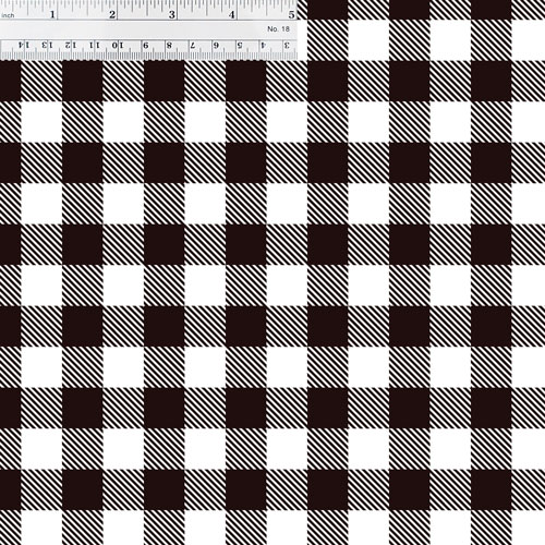 White Buffalo Plaid with Ruler for Size Reference