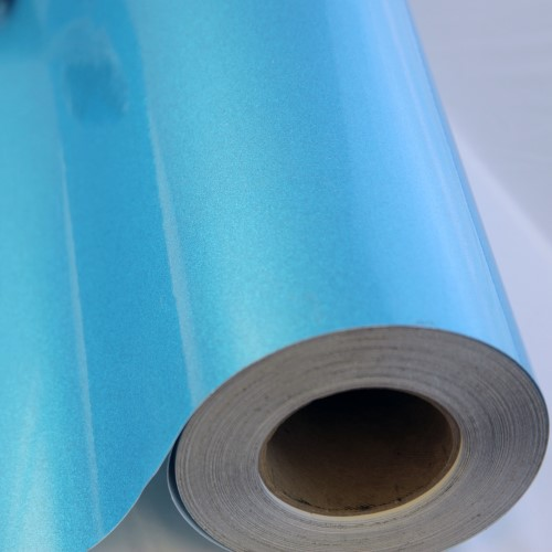 Transparent Sky Blue Glitter Adhesive Vinyl