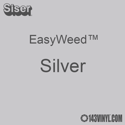 """EasyWeed HTV: 12"""" x 15"""" - Silver"""