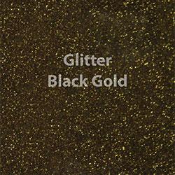 "Glitter HTV: 12"" x 5 Yard Roll - Black Gold"