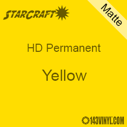 "12"" x 5' Roll - StarCraft HD Matte Permanent Vinyl - Yellow"