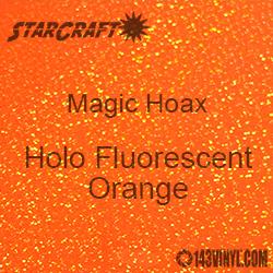 "12"" x 24"" Sheet - StarCraft Magic - Hoax Holo Fluorescent Orange"