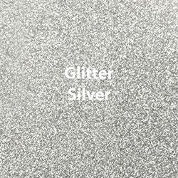"Glitter HTV: 12"" x 5 Yard Roll - Silver"