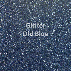 "Glitter HTV: 12"" x 5 Yard Roll - Old Blue"