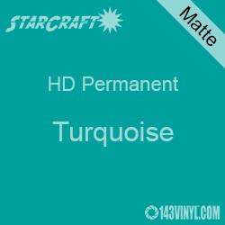"12"" x 5' Roll - StarCraft HD Matte Permanent Vinyl - Turquoise"