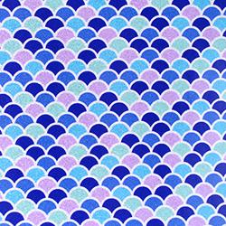 "Printed Pattern Vinyl - Pattern of the Month - Glitter Mermaid Scales - 12"" x 12"""