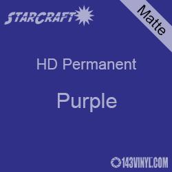 "12"" x 5' Roll - StarCraft HD Matte Permanent Vinyl - Purple"