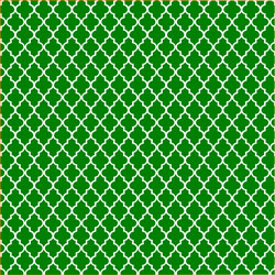 "Printed Pattern Vinyl - Green and White Small Quatrefoil 12"" x 24"" Sheet"