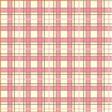 "Printed Pattern Vinyl - Pink and Brown Plaid 12"" x 24"" Sheet"