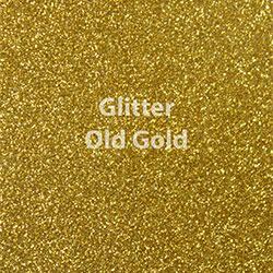 """Glitter HTV: 12"""" x 5 Yard Roll - Old Gold"""