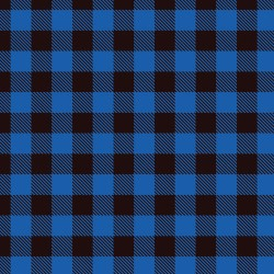 "Printed Pattern Vinyl - Blue Buffalo Plaid 12"" x 12"" Sheet"