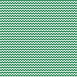 "Printed Pattern Vinyl - Green and White Chevron 12"" x 24"" Sheet"