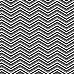 "Printed Pattern Vinyl - Black White Grey Chevron 12"" x 24"" Sheet"