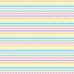 "Printed Pattern Vinyl - Pastel Chevron 12"" x 24"" Sheet"