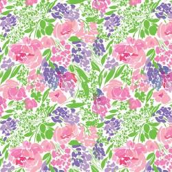 "Printed Pattern Vinyl - Roses and Berries 12"" x 24"" Sheet"
