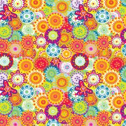 "Printed Pattern Vinyl - Flower Power 12"" x 24"" Sheet"