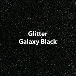 "Glitter HTV: 12"" x 5 Yard Roll - Galaxy Black"