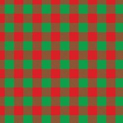 "Printed Pattern Vinyl - Green and Red Buffalo Plaid 12"" x 12"" Sheet"