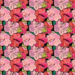 """Printed Pattern Vinyl - Pink Hibiscus 12"""" x 12"""" Sheet"""