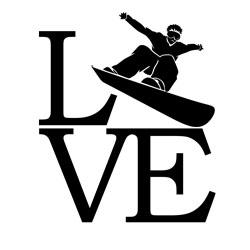 Free Download - Love Snowboarding