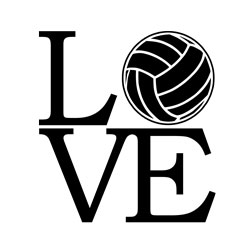 Free Download - Love Volleyball