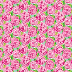 """Printed Pattern Vinyl - Lilly Inspired Roses 12"""" x 24"""" Sheet"""