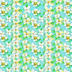 """Printed Pattern Vinyl -  White Lily 12"""" x 24"""" Sheet"""