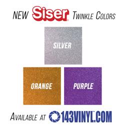 143VINYL Adds Three New Colors Of Siser Twinkle HTV To Their Product Line