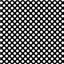 "Printed Pattern Vinyl - Black White Polka Dots 12"" x 12"" Sheet"