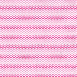 "Printed Pattern Vinyl - Shades of Pink Chevron 12"" x 24"" Sheet"