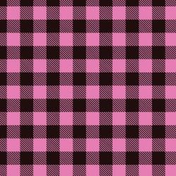 "Printed HTV Pink and Black Buffalo Plaid Print 12"" x 15"" Sheet"