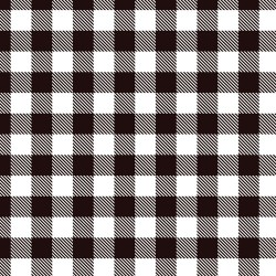 "Printed Pattern Vinyl - White Buffalo Plaid 12"" x 24"" Sheet"