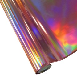 """25 Foot Roll of 12"""" StarCraft Electra Foil - Pink Holographic Rainbow"""
