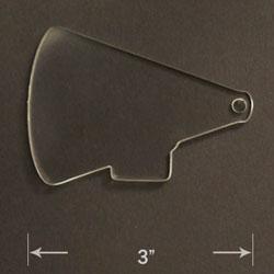 Acrylic Blank - Megaphone