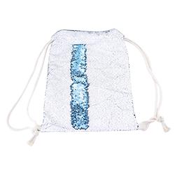 Sublimation Reversible Blue Sequin Drawstring Bag
