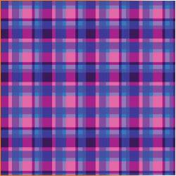 "Printed Pattern Vinyl - Purple Blue Plaid 12"" x 24"" Sheet"