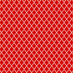 "Printed Pattern Vinyl - Red and White Small Quatrefoil 12"" x 24"" Sheet"