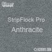 """12"""" x 15"""" Sheet Siser Stripflock Pro HTV - Anthracite"""