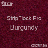 """12"""" x 15"""" Sheet Siser Stripflock Pro HTV - Burgundy"""