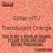 "Glitter HTV: 12"" x 20"" - Translucent Orange"