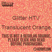 "Glitter HTV: 12"" x 5 Yard Roll - Translucent Orange"