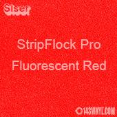 """12"""" x 15"""" Sheet Siser Stripflock Pro HTV - Fluorescent Red"""